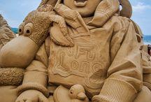 prachtig / knap ZANDEN sculptures / by Thea Huf