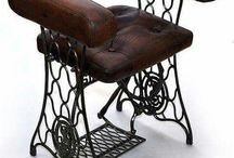 židle ze šicího  stroje