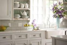 KITCHEN / Kitchen, decor, white, rustic, farmhouse