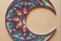 Quilling / Eclectic, boho, natural, neutral, harmony, eco living, zero waste, recycling, upcycling, diy