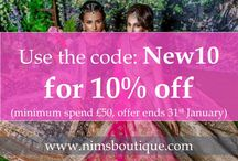 Nims Boutique Offers / Keep up to date with offers at Nims Boutique www.nimsboutique.com Indian jewellery, earrings, tikkas and more