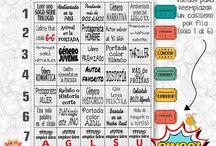 Reto Bingo literario 2016 / Reto literario de libros, cada mes una cosa