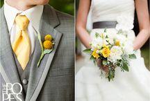 my luxbride wedding palette / gray + yellow