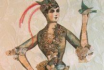 Dolls - Paper Dolls / See my unique line of Halloween, Christmas, and Marie Antoinette digital download paper dolls at http://www.rhondasoriginals.biz