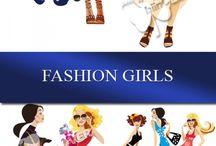 векторные девушки/vector girls / векторные иллюстрации векторные девушки vector girls