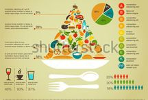 Health food infographics / Pretty pictures of nutrition information that we like to look at