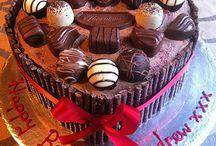 Chocolate Thornton's heart shaped cake