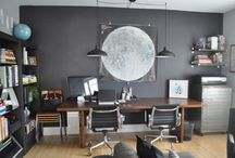Vintage Office Decor / Old typewriters, lamps, file cabinets, fans... all add a vintage touch to any office!