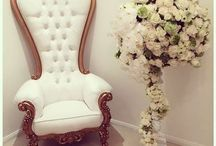 Baroque Throne / Our baroque throne chair can be customised with any finish and fabric. Here are a few ideas of how this statement throne can look. Create your own www.hiddenmill.com