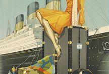 Art Deco, retro posters