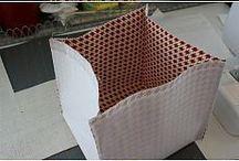 caixas feitas c tecidos