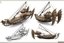 Концепт-арты кораблей