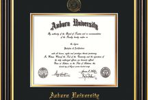 Auburn University Diploma Frames and AU Graduation Gifts / Official Auburn Diploma frames. Exquisitely crafted to exacting specifications for the AU diploma. Custom framed using hardwood mouldings and all archival materials, including UV glass to prevent fading from sunlight AND indoor incandescent lighting! Each frame exceeds Library of Congress standards for document preservation and includes a 100% lifetime guarantee, ensuring that a hard-earned achievement will be honored and protected for generations. Makes a thoughtful and unique graduation gift!