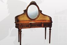 Dressing Tables / Feast your eyes upon the most beautifully handcrafted antique dressing table with mirror that gives a gorgeous look to your living room or bedroom. French style dressing table adds grace and poise to your natural surroundings.