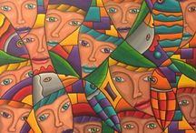 Abstract paintings by Barego Art