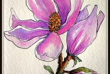 Pen ink watercolor / The beauty of watercolor