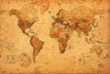 cartes géographiques anciennes et mappemonde
