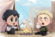 Reiner x Bertholdt Attack on titan