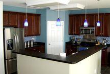 Master bedroom ideas / Master Bedroom Ideas ~ blue walls ~ Mahogany furniture / by Nicole Katowich