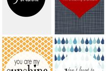 Printables / To-do lists, planners, subway art... if you can print it I'll pin it!