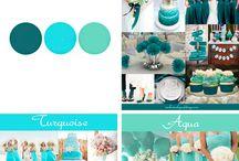 Türkiz&kék esküvői ötletek