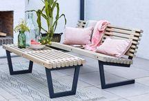 Garten Möbel Outdoor Lounge Möbel / Gartenmöbel für den Outdoor und/oder Lounge Bereich im Garten, auf der Terrasse oder auf dem Balkon. Hierbei setzt das Holz den Akzent der Natürlichkeit