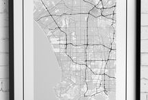 Digital city map posters / Get beautiful black and white minimalist map posters of your favourite city or place. Check out our shop where you can buy both physical posters and digital prints: https://www.etsy.com/shop/MinimalMapDesigns
