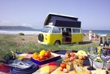 VW camper picnic photoshoot