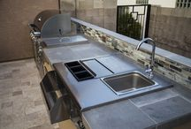 A Backyard for Entertaining / Imagine Backyard Living has sourced the finest manufactures for grills, doors, drawers, smokers and more. We can custom build or you can choose from our fabulous pre-fabricated kitchens, fireplaces and grills from SunFire Grills and Primo Ceramic Grills. Stop by and see this exclusive product.