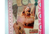 Mijn meisjes kaarten / hier mijn kinderkaarten gemaakt dank zij de mooie knipvellen van de Action