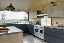 Monochrome Roundhouse Kitchens