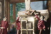 INSPIRATION: Houdini /  gypsy, circus, mysticism, seance, magic acts
