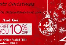 Christmas Adventure Offer. / #OurGifttoYou10%OFF: