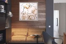 Gold Horses / Exquisite Modern Equine Art - Transitioning to Classic to Urban Luxury Lifestyle Art. Horses for Everyone ~ Everywhere. The Empathy of Equines ~ warms every room, charging it with beauty, history and grace.  The Essential Modern Equines of Donna B.