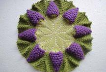 centro tavola con uva