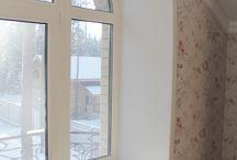 подоконники радиусные откосы / Реализован проект обрамление окон акриловым искусственным камнем ,в процессе производства пришлось изготавливать индивидуальные матрицы под каждое окно. Откосы изготовлены методом термоформинга с учетом оконного рассвета,завершающий элемент плоскость подоконника.