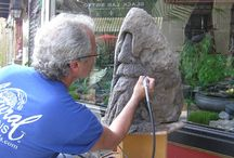 Sculpting / Our Master Artist, Chuck Kern, in the field!