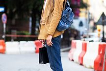 Color combination: Camel and dark blue