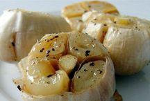 healthy food  roasted garlic