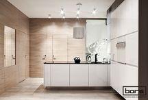 "Beton, lakier, kamień, szkło i ""boazeria"" / Katowice / #kitchen #meble #kuchenne #meble #kuchenne #furniture"