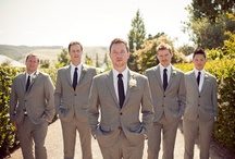Groom and Groomsmen / The men may not be the focal point at a wedding but it is the groom's day too! So here's to the groom and his noble groomsmen!