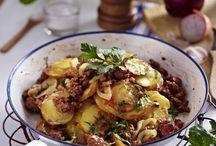 Kartoffel hack Pfanne