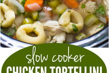 Chicken tortellini soup for slow cooker