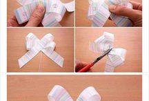 Tying ribbons