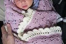 Crochet and knitting baby blankets