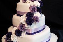 Lila wedding cake