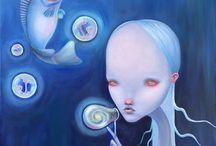 Pop surrealism paintings by Julia Kuzina / Pop surrealism art by Julia Kuzina.  Original oil paintings and limited edition prints for sale.