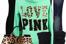 """Victoria's Secret Love PINK Leopard Zip Hoodie Sweatshirt"" by cindycook10 ❤ liked on Polyvore"