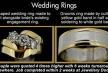 JD Shaped Wedding Bands / Shaped wedding rings designed to sit perfectly alongside your engagement ring. Available instore & by post.