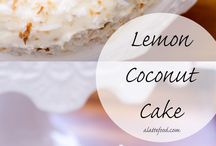 cakes coconut lemon
